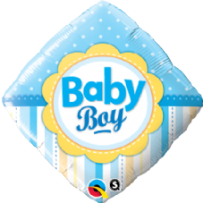Baby Boy Dots & Stripes Foil Helium Balloon